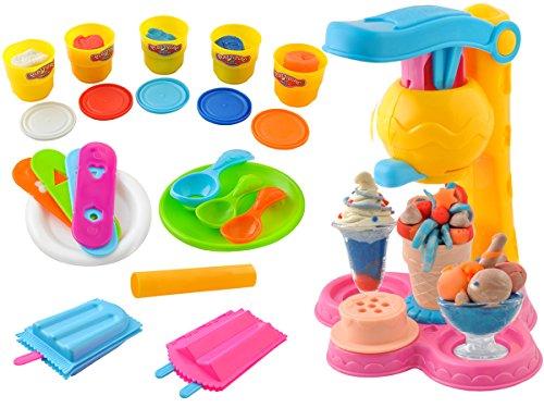 Iso Trade Eismaschine Sorbits Kinder Modelliermasse Knetmasse Plastilin Set #4505