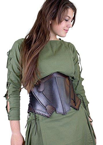Epic Armoury- Dark Elf Corset-Black-Brown-M Corsé, Color negro/marrón (Iron Fortress 11080250)