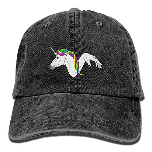 Unicorn with Rainbow Hair Adjustable Cowboy Style Baseball Cap Hat for  Unisex Adult 011ffe2c5567