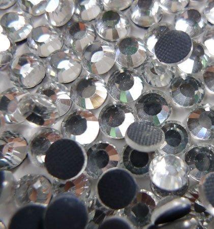 4,000pc Bulk 5mm, Kristallgröße SS20Kristall klar lose Strass Hot Fix