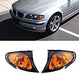 ricoy Paar für 2002-2005 E46 3-Serie 4-türig Limousine Ecke Lights - Gelb Objektiv