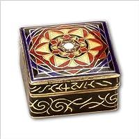 Dose Mandala Pillendose Emaille Box Aufbewahrung Pillendose 30x30mm preisvergleich bei billige-tabletten.eu