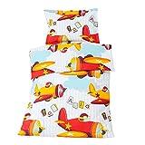 Baby Aviator/Planes - SoulBedroom 100% Cotone Biancheria per culle e lettini bambino (Copripiumino 120x150 cm & 1 Federa 40x60 cm)