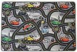 Spielteppich Straße Kinderteppich Disney Cars - 200x300cm, Anti-Schmutz-Schicht, Auto-Spielteppich für Mädchen & Jungen,Spielmatte Fußbodenheizung geeignet