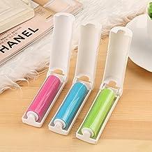 Generic rosa: 1pc mini portátil plegable Secadora Pelusa rodillos lavable polvo electrostática cepillo de limpieza ropa fácil de limpiar Home suministros