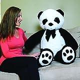 CLICK4DEAL Giant Stuffed/Spongy/Huggable Cute Panda Teddy Bear High Quality (3 Feet)