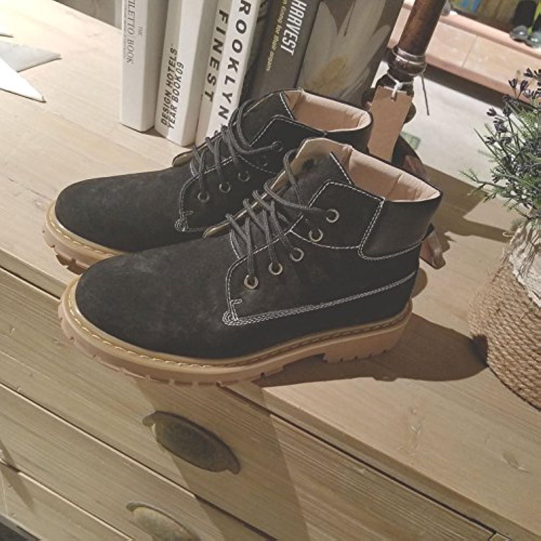 HL PYL   Chinesische Schuhe Martin Stiefel britische Retro Stiefel Arbeitsstiefel  43  Schwarz Hilfe
