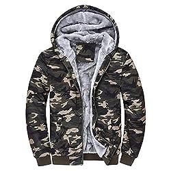 Byste Mens Thick Plus Soft Plush Hoodie Coat, Winter Warm Fleece Zipper Sweater Jacket Outwear Teen Boys Sports Baseball Outdoor Indoor,S-5XL