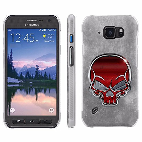 [ArmorXtreme] Phone Case for Samsung Galaxy [S6 Active] G890 [Matte] [Ultra Slim Cover Case] - [Red Skull]
