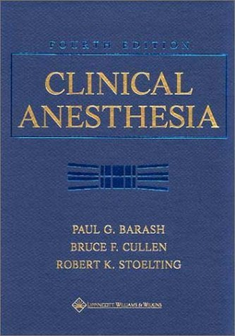 Clinical Anesthesia by MD Paul G. Barash (2000-12-13)