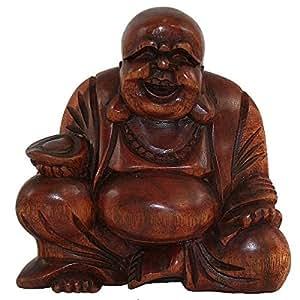 sun d 39 koh bouddha rieur de la fortune en bois 10 cm cuisine maison. Black Bedroom Furniture Sets. Home Design Ideas