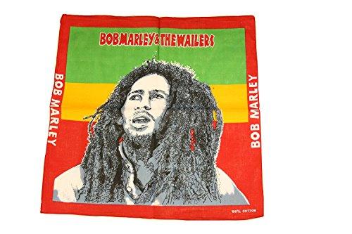 Zac's Alter Ego® - Bandana/Halstuch - 100% Baumwolle - Bob-Marley-Motiv -