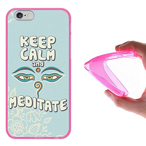 iPhone 6 6S Hülle, WoowCase Handyhülle Silikon für [ iPhone 6 6S ] Carpe Diem Handytasche Handy Cover Case Schutzhülle Flexible TPU - Transparent Housse Gel iPhone 6 6S Rosa D0161