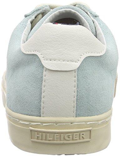 Tommy Hilfiger V1285ALI 1C, Sneakers basses femme Vert - Grün (LONGBOARD GREEN 359)