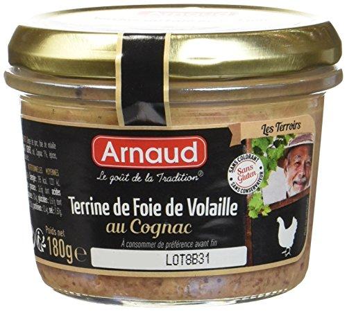 Arnaud Terrine de Foie de Volaille au Cognac 180 g - Lot de 6