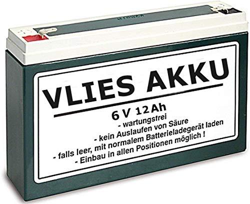 6V Vlies Akku Wartungsfrei 12 Ah Batterie Simson Moped inkl. 7,50 Pfand (1-021)