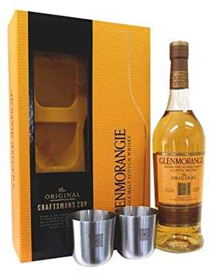 Glenmorangie 10 Year Old And Two Craftman's Cup Gift Set 70cl 40% ABV