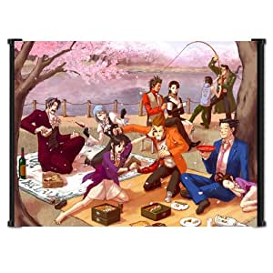 """Ace Attorney Phoenix Wright Video Game Fabric Wall Scroll Poster (42"""" x 31"""") Inches"""