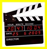 CineShopping Director's Clock Digitaler Wecker LED Digital Regieklappe Filmklappe Uhr Wanduhr Datum