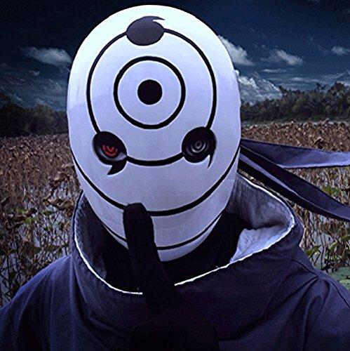 Kunstharz Tobi Obito Naruto Uchiha Cosplay Helm (Kakashi Kostüm Anbu)