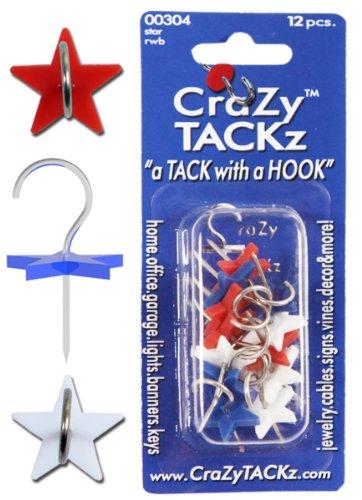 CraZy TACKz die Tack mit A Star Designer Haken, rot/weiß/blau