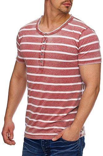 Tazzio Herren Rundkragen T-Shirt 17108 Bordo