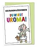 XL Glückwunschkarte Du wirst Uroma, XL-Babykarte, Schwangerschaftskarte, Karte schwanger, Babykarte, Oma wird Uroma, Oma wir bekommen ein Baby Karte, Glückwunsch zum Urenkel - inklusive Umschlag