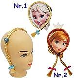 alles-meine.de GmbH 1 Stück _ Haarreif / Haarband -  Disney die Eiskönigin - Frozen / Prinzessin ELSA  - mit Haaren & Schleifen - Haarsträhnchen / Strähnen - Geflochtenen Haars..
