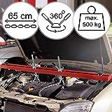 Timbertech Ponte Montaggio per Motore | Fino 500 kg, con Due Catene, per Macchine | Gru Sollevamento Motore, cavalletto Officina, Supporto Motore