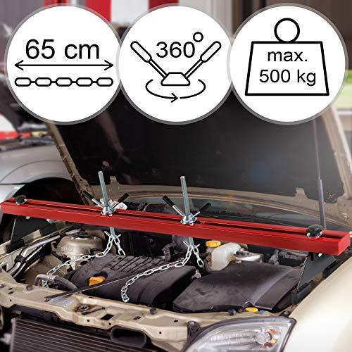 TIMBERTECH Puente para Motores   Carga máxima: 500 kg, Dos Cadenas, para carros   para Sujetar Motores, Soportes Motor