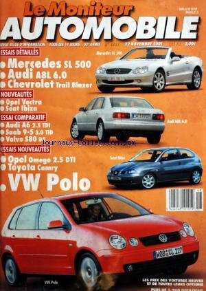 moniteur-automobile-le-no-1251-du-22-11-2001-essais-mercedes-sl-500-audi-a8l-chevrolet-opel-vectra-s