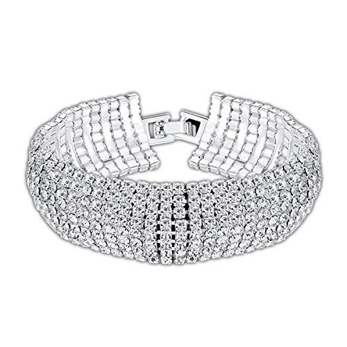 CNSP VIVIZEY Armband Armreif,Schmuck Geschenk,Crystal Bridal Bracelets for Women Rhinestone African Bridesmaid Wedding Jewelry