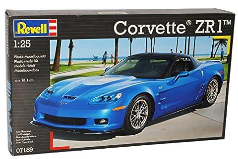 Chevrolet Corvette ZR1 C6 Blau 2005-2013 07189 Bausatz Kit 1/24 Revell Modell Auto mit individiuellem Wunschkennzeichen