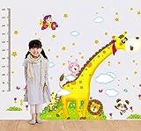 UberLyfe Giraffe and Friends Height Chart cum Wall Sticker - 2 Sheet Size 5 (Wall Covering Area: 160cm x 230cm) - WS-000909