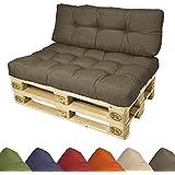Beautissu® spalliera (1 cuscino) per bancali 120x40x10-20 cm - schienale divano bancale/pallet di legno - antracite