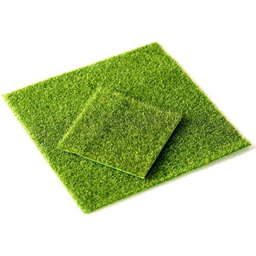 UxradG Miniatur-Rasen Garten Fairy Emulation Gras DIY Craft, Fairy Puppenhaus Home Outdoor Decor, 15 * 15CM