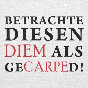 TEXLAB - Diem Gecarped - Herren Langarm T-Shirt Weiß