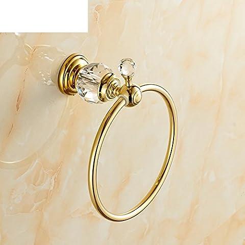 HCP anneau All-cuivre serviette/jade Continental pendentif salle de bain/anneau de serviette Antique-D