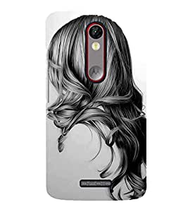 Girl with Gorgeous Hair 3D Hard Polycarbonate Designer Back Case Cover for Motorola Moto X Force :: Motorola Moto X Force Dual SIM