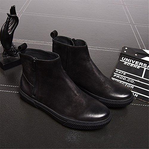 gli stivali di moda casual stivali stivali martin maschio scarpe vintage black