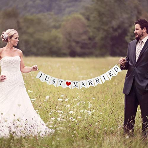 (TianranRT Nur Verheiratet Braut Zu Papier Banner Hochzeit Party Ziehen Flagge Ereignisse)