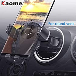 Kaome Car Phone Holder for Round Air Vent Car Mount Circular Vent Phone Car Holder One-Handed Operation Scratch Prevention for Iphone Xr/Xs/X/8, Samsung Galaxy, Huawei