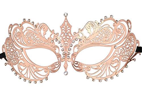 Thmyo Máscara de la corona de Halloween Máscara veneciana de la máscara de la mascarada del laser del corte del laser de las mujeres