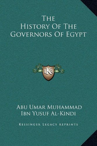 The History of the Governors of Egypt