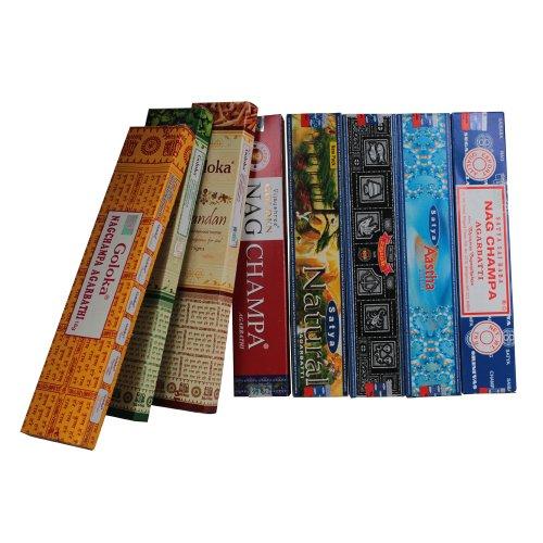 Räucherstäbchen Set - 8 indische Premium Sorten - Indische Patchouli
