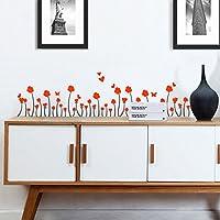 Wandaufkleber ALLDOLWEGE Einfache Frische Garten Warme Fenster Blume Gras  Fensterbank Baseboard Ecke Wand Dekoration Glaspaste,