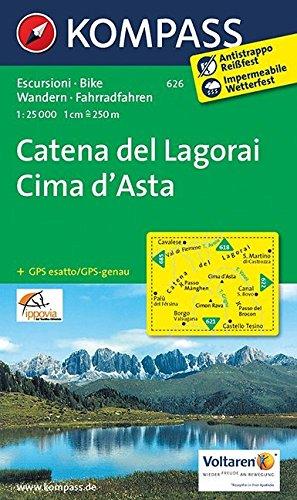 Catena Dei Lagorai Cima Dasta 626 Gps Wp