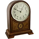 WBL Horloge à quartz de cheminée en bois de style Westminster Cadran avec chiffres arabes