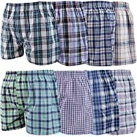 Men Woven Boxer Assorted Shorts Underwear Flexible Comfortable Soft Loose Fit Fashion Available in Pack of 3 6 9 12 in 6…