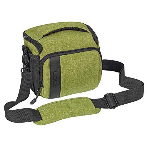 """PEDEA SLR-Kameratasche """"Fashion"""" Schultertasche Messenger Kameratasche Umhängetasche Kamera Tasche mit Regenschutz, Tragegurt und Zubehörfächern, Gr. L grün"""